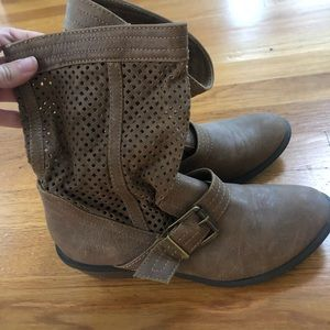 Shoes - Brown Saddle Booties